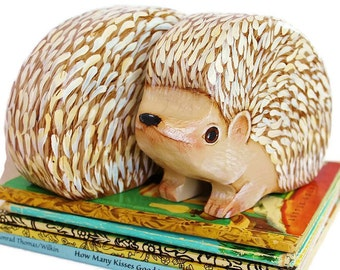 Hedgehog Bookends Hand Painted Non Toxic Nursery Decor