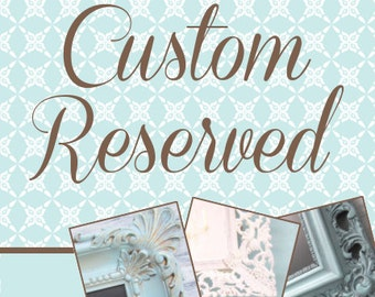"RESERVED FOR RONDA Magnetic Chalkboard 18""x15"" Distressed White"