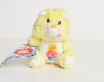 "Vintage 80s Care Bear Birthday Bear Mini Plush Kenner 6"""
