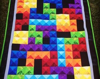 Tetris video game baby or lap quilt