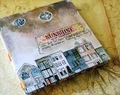 Handmade Art Journal Watercolour Sketchbook - Sunshine