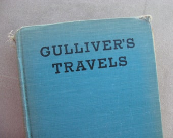 GULLIVERS TRAVELS, Shabby Turquoise Book, no date