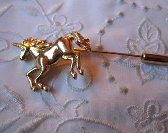 Vintage Gold Tone Unicorn Stick Pin