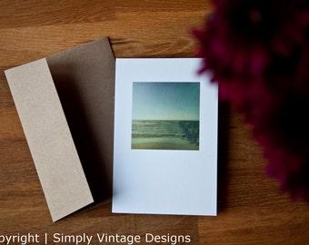 4x6 Blank Photo Card - Summer Beach