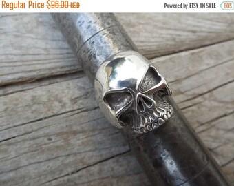 ON SALE Skull ring handmade in sterling silver