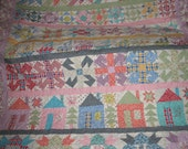 1930's Style Row Sampler Twin Size Quilt