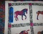 A Horse of a Different Color Twin Size Quilt