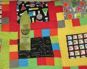 She Blinded Me With Science Twin Size Quilt