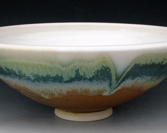 SERVING BOWL #16 - Ceramic Bowl - Stoneware Bowl - Pottery Bowl - Salad Bowl - Studio Pottery