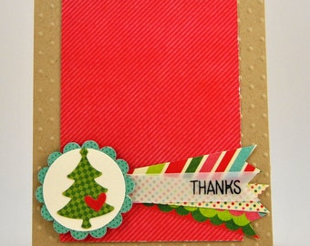 Christmas Themed Thank You Note Card