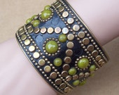 Vintage cuff  bracelet copped studded ethnic style bangle bracelet (114)