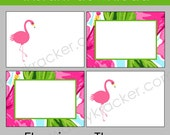Flamingo Tropical Printable Food Place Cards ~ Tent Cards