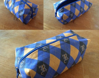 Ravenclaw (Hogwarts) themed pencil case or make up bag - handmade fandom fabric