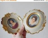 CLOSING 50% 2 miniature paintings vintage Italian hand painted miniatures''''