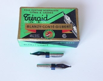 french pen nibs box small vintage french box and pen nibs