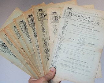 SALE 20% antique french horticulture books magazines