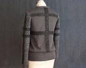 SALE...Gridline Boucle Rib Knit Sweater....XS/S ONLY