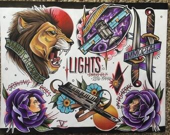 LIGHTS flash sheet- Parahoy 2016