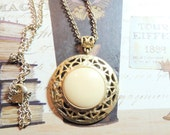 Anne Klein Vintage Necklace Gold Medallion Designer Vintage Jewelry