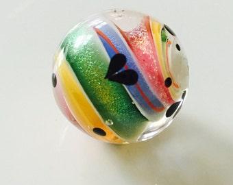 Glitter Swirl Focal Bead  by Caroline Dousi