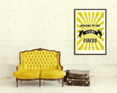 Personalized Vintage feel Circus family name print. Large poster print A2, 16.5 x 23.4 in