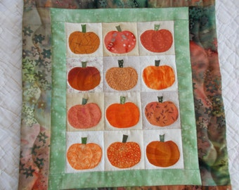 Pumpkins Galore Quilted Wall Hanging