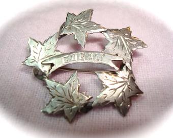 Sterling Silver GOBALT CANADA Maple Leaf Pin.