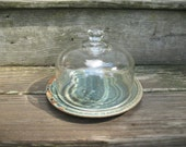 Glass Domed Serving Dish, Cheese Plate, Cheese Tray