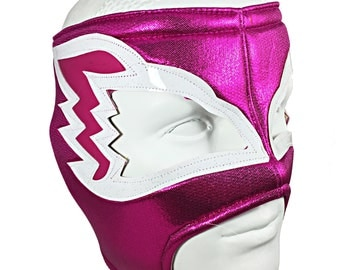 WHITE HAWK Lucha Libre Mexican Wrestling Mask - (Adult Size) Brand New Hot Pink