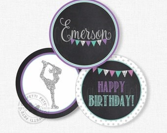 """Ice Skating Centerpiece Circles, Skating Birthday Decorations, Ice Skate Party Decorations, Printable 4"""" Party Circles"""