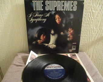 The Supremes -  I hear a Symphony - Original - Vintage lp in Excellent Plus Condition