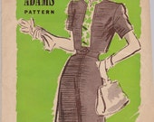 1950s, 1940s Vintage Sewing Pattern, Dress and dickey, Anne Adams 4700, size 16 SALE
