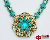 Tutorial Ozzy Necklace-beading tutorial, beading pattern, Ellad2