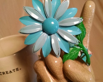 Vintage Flower Pin turned Hair Jewelry...FREE Shipping in the USA