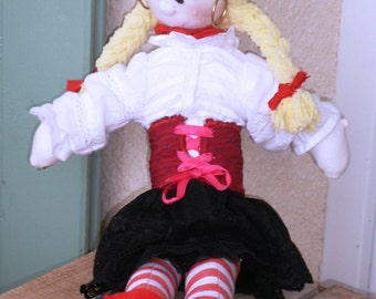 Bonnie the Buccaneer Pirate doll.  Girl Pirate doll.  Girl Captain Pirate doll.  Alan Dart