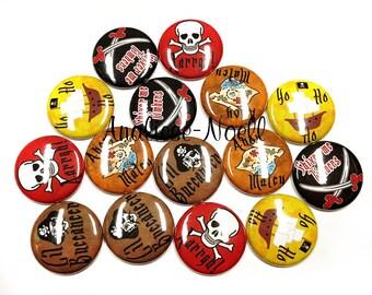 "Pirate, 1"", Pirate Embellishment, Pirate Party, Pirate Party Favor, Pirate Flatback, Pirate Pin, Pirate Pinbacks, Pirate Button, Pirate Gift"