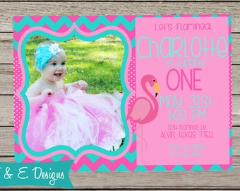 Flamingo Birthday Invite