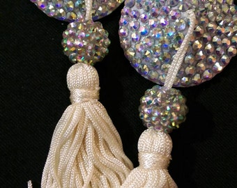 One of a kind burlesque nipple tassels, showgirl pasties