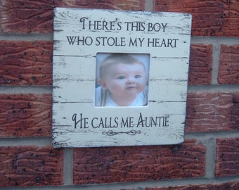 so theres this boy auntie picture frame gift photo frame aunty gift christmas 8x8 inch