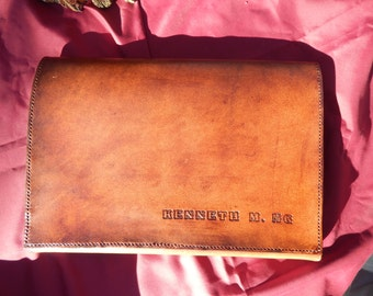 Large Extra Large Leather Portfolio w/ Personalisation