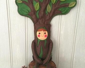 TreeBoy handmade felt art doll folkart