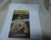 Vintage 1950's Mickey Spillane Vengeance Is Mine Mike Hammer Thriller Mystery  Signet #852 Paperback Book, collectable