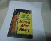 Vintage 1950's Agatha Christie Murder After Hours (The Hollow), Hercule Poirot Mystery  Dell #753 Paperback Book, collectable