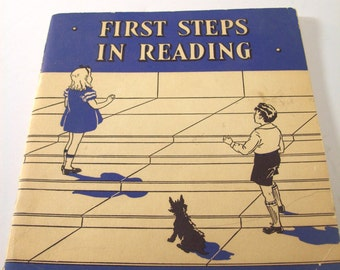 Vintage Book First Steps in Reading Hall & Cleary Company 1934