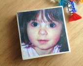 Custom wood block - your photo transfered onto a wood block 90x90mm - home decor