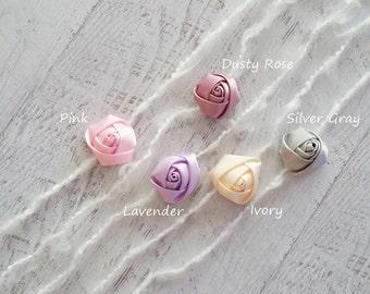 Baby Tieback Headband, Newborn Headband, Rosette Headband, Baby Rose Headband, Flower Headband, Baby Girl Photo Prop, RTS