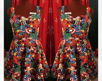 Marvel Avengers Sundress - Custom made - Skater dress