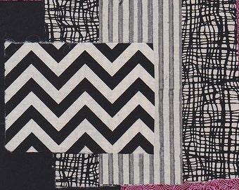 black, white and purple scrap pack