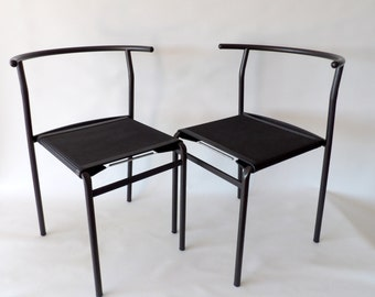Philippe Starck for Cerruti Baleri Italia PS 210 stackable café chairs. Top condition