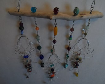 Mermaid Sea Goddess Ocean Driftwood Sun Catcher Suncatcher